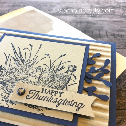 Create a fall Thanksgiving card using Stampin Up Pleasant Pheasants - Mary Fish StampinUp