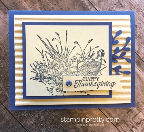 Create a fall Thanksgiving card using Stampin Up Pleasant Pheasants - Mary Fish StampinUp Idea