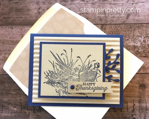 Create a fall Thanksgiving card using Stampin Up Pleasant Pheasants - Mary Fish StampinUp Ideas