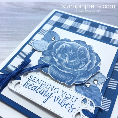 Create a get well card using Stampin Up Healing Hugs & Buffalo Check - Mary Fish StampinUp