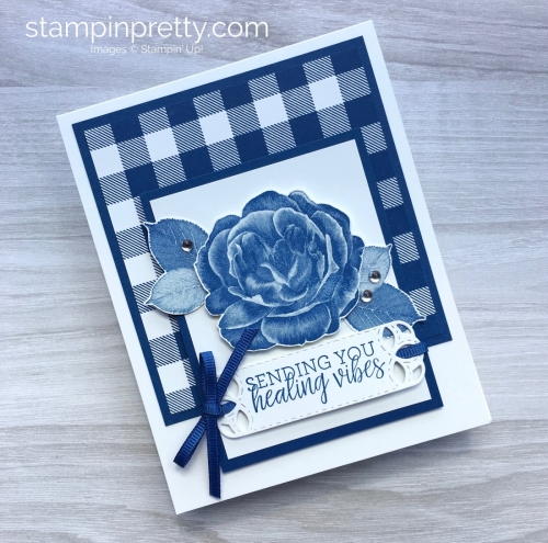 Create a get well card using Stampin Up Healing Hugs & Buffalo Check - Mary Fish StampinUp Idea