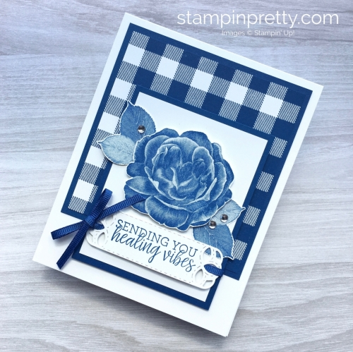 Create a get well card using Stampin Up Healing Hugs & Buffalo Check - Mary Fish StampinUp Ideas