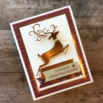 Create a simple Christmas card using Stampin Up Dashing Deer stamp set & Detailed Deer Thinlits Dies - Mary Fish StampinUp