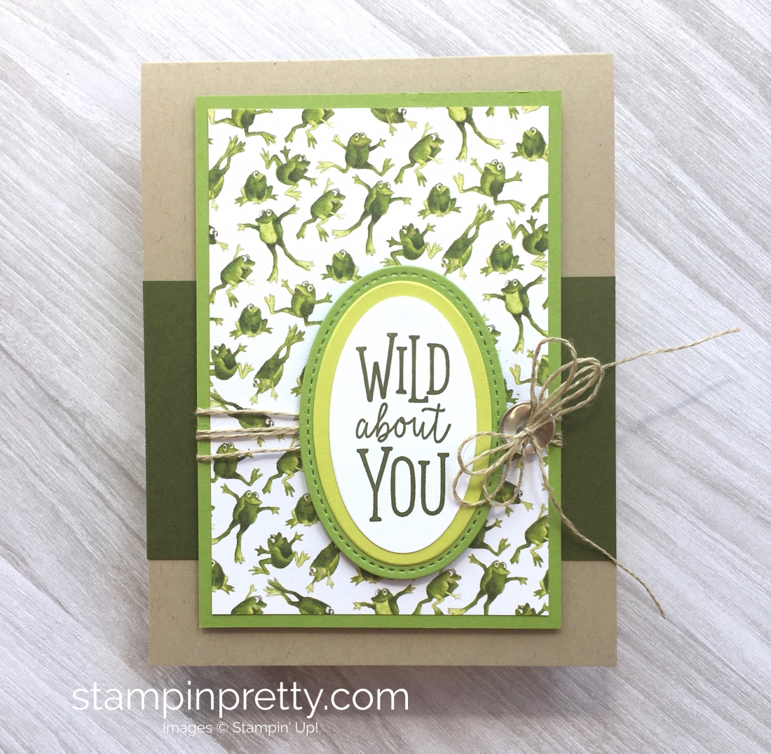 Create a simple frog card using Stampin Up Toil & Trouble & Animal Outing - Mary Fish StampinUp Idea