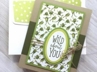 Create a simple frog card using Stampin Up Toil & Trouble & Animal Outing - Mary Fish StampinUp Ideas
