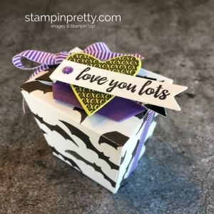 Create a simple treat box using Stampin Up Takeout Treats & Takeout Thinlits Dies - Mary Fish StampinUp Halloween