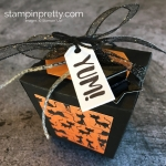 Create a simple treat box using Stampin Up Takeout Treats & Takeout Thinlits Dies - Mary Fish StampinUp yum
