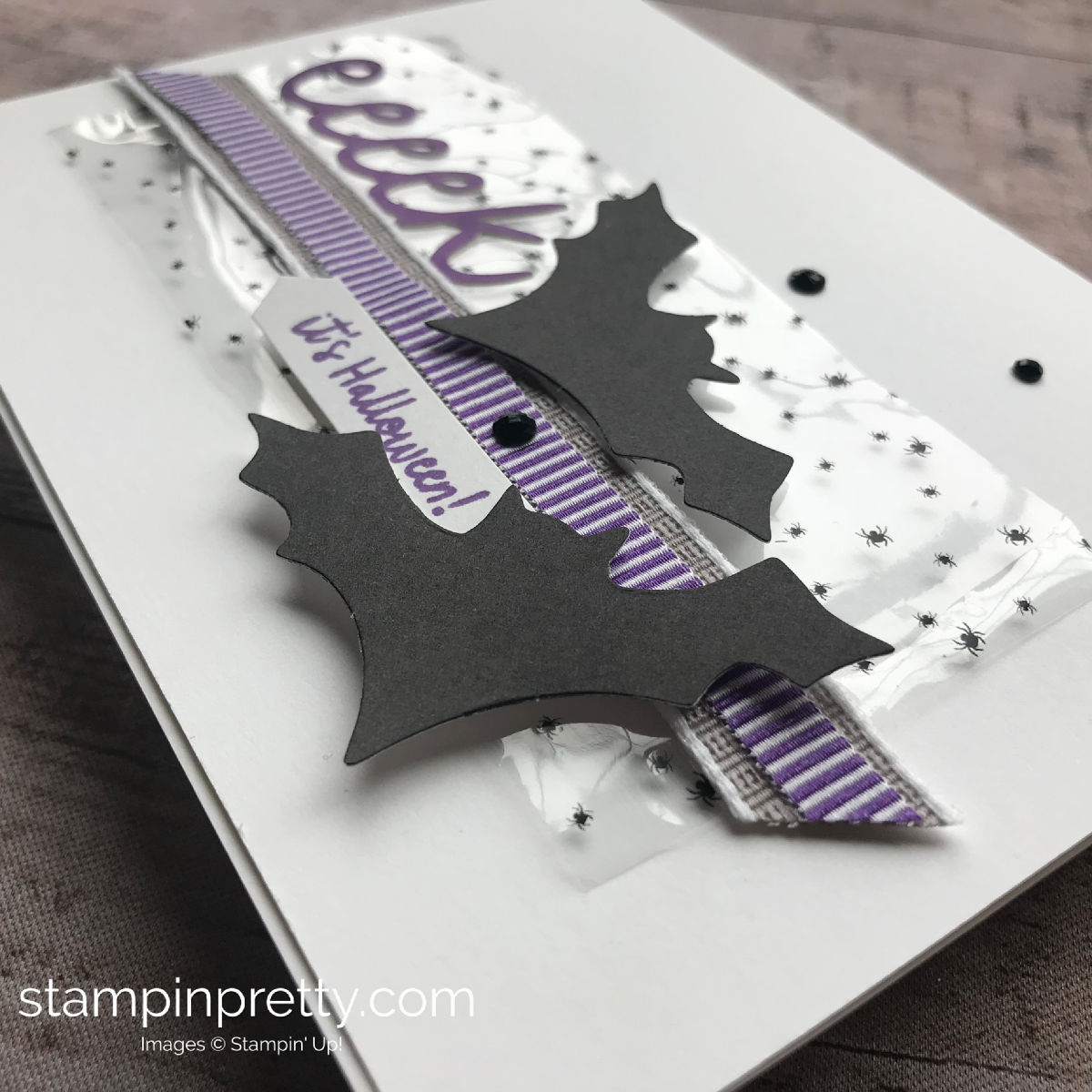 September 2018 Paper Pumpkin Alternate Project by Mary Fish, Stampin' Pretty!  eeeek Halloween Bats. #maryfish #stampinpretty