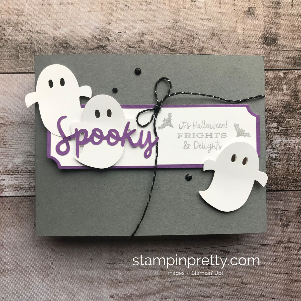September 2018 Paper Pumpkin Alternate Project by Mary Fish, Stampin' Pretty!  Spooky Halloween Frights & Delights. #maryfish #stampinpretty
