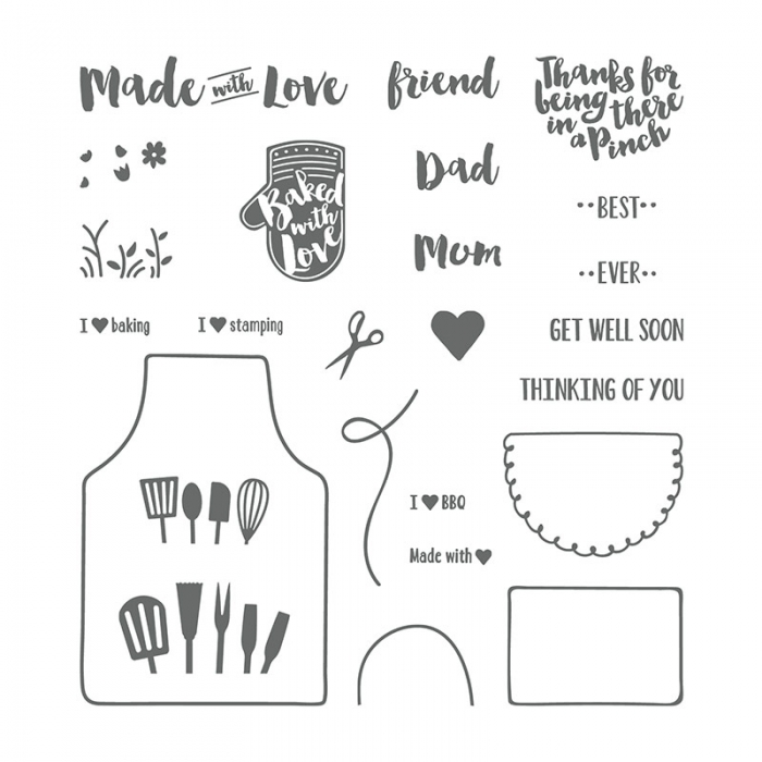 Apron of Love Stamp Set 145835 - Images © Stampin' Up!