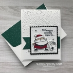 Create a handmade christmas card using Signs of Santa Bundle by StampinUp Card ideas Mary Fish