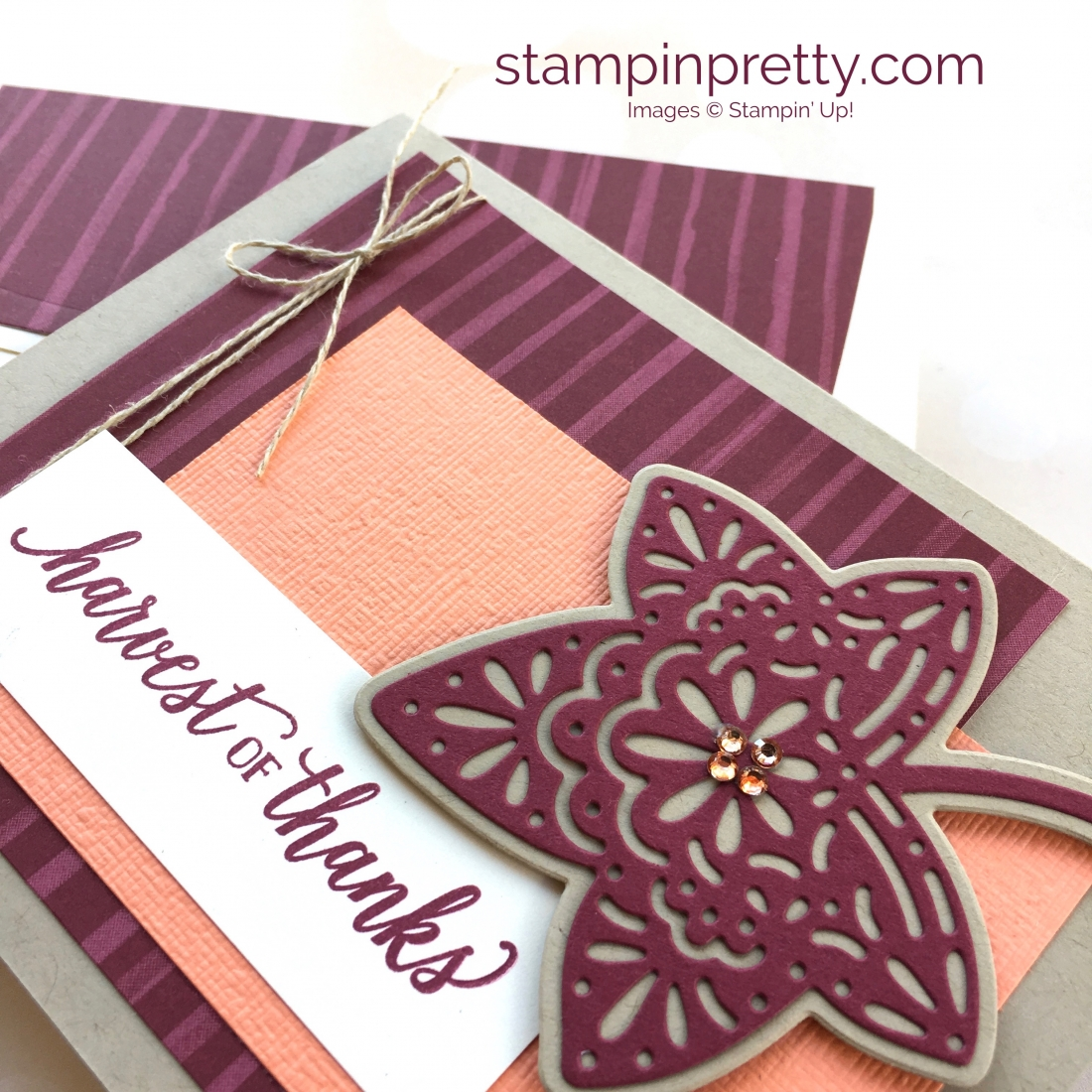 Create a simple autumn card with Stampin' Up! Falling for Leaves - Mary Fish StampinUp Idea