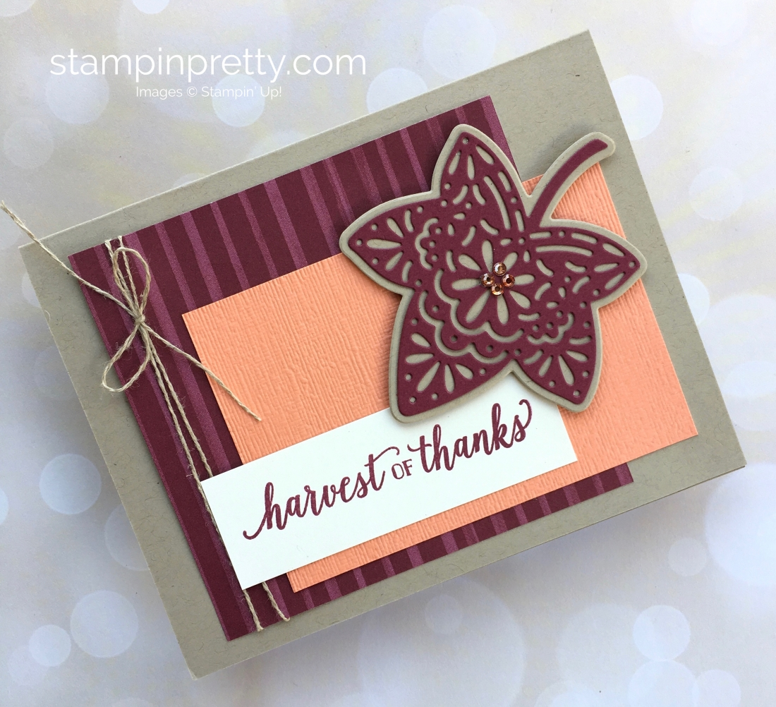 Create a simple autumn card with Stampin' Up! Falling for Leaves - Mary Fish StampinUp Ideas