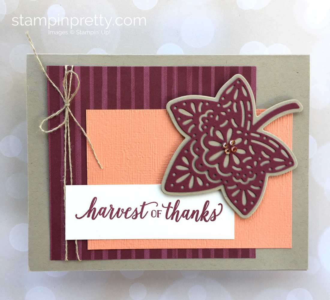 Create a simple autumn card with Stampin' Up! Falling for Leaves - Mary Fish StampinUp