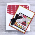 Create a simple birthday card with Birthday Bound Specialty Designer Series Paper - Mary Fish cake idea