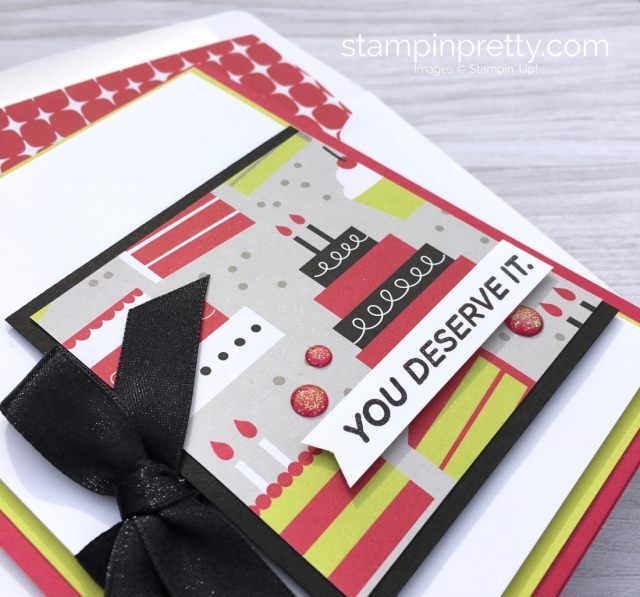 Create a simple birthday card with Birthday Bound Specialty Designer Series Paper - Mary Fish cake ideas