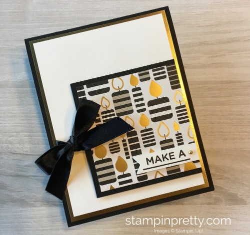 Create a simple birthday card with Stampin Up Broadway Bound Specialty Designer Series Paper - Mary Fish StampinUp