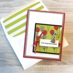 Create a simple birthday card with Stampin Up Broadway Bound Specialty Designer Series Paper - Mary Fish StampinUp glimmer dot