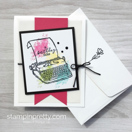 Create a simple birthday card with Stampin Up PS Youre the Best - Mary Fish StampinUp