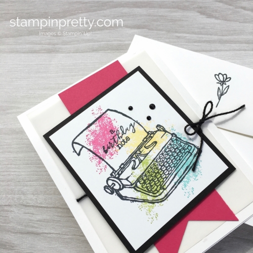 Create a simple birthday card with Stampin Up PS Youre the Best - Mary Fish StampinUp Envelope