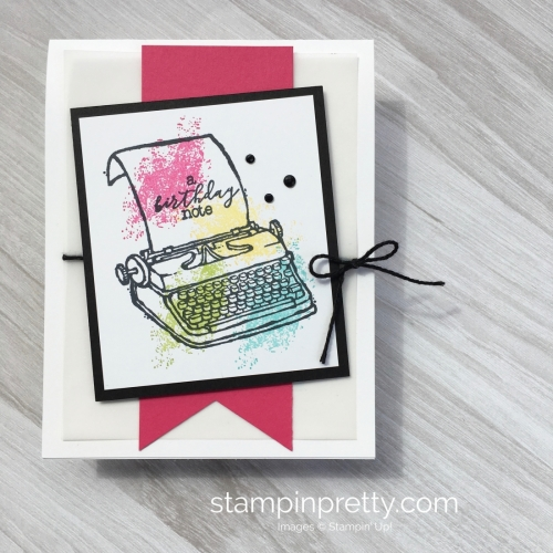 Create a simple birthday card with Stampin Up PS Youre the Best - Mary Fish StampinUp Idea