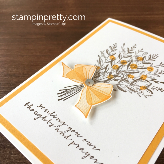 Create a simple prayer sympathy card using Stampin Up Wishing You Well - Mary Fish StampinUp
