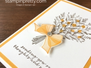 Create a simple sympathy card with Stampin Up Wishing You Well - Mary Fish StampinUp