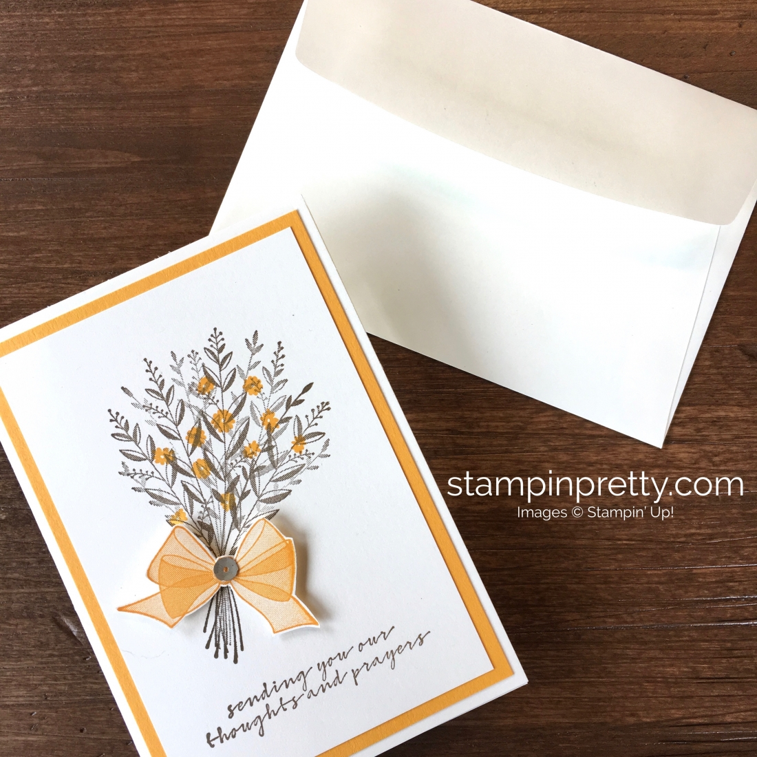 Create a simple sympathy card with Stampin Up Wishing You Well - Mary Fish StampinUp Idea