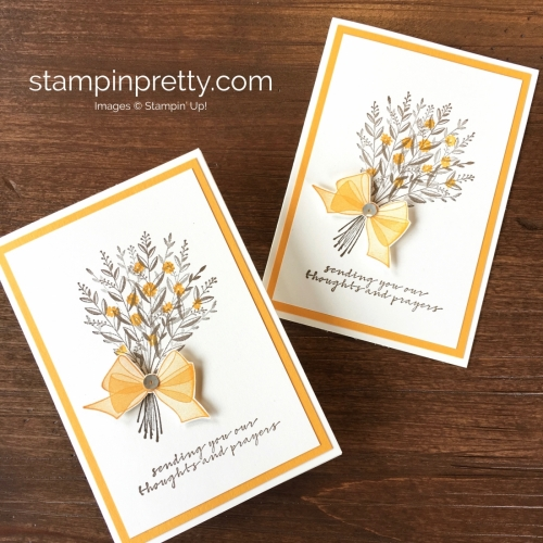 Create a simple sympathy card with Stampin Up Wishing You Well - Mary Fish StampinUp duo