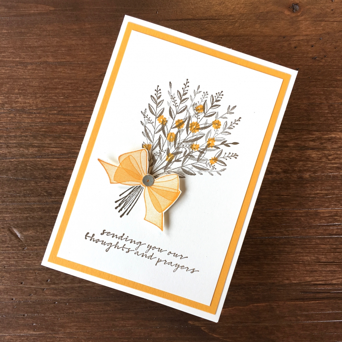 Create a simple sympathy card with Stampin Up Wishing You Well - Mary Fish StampinUp get well