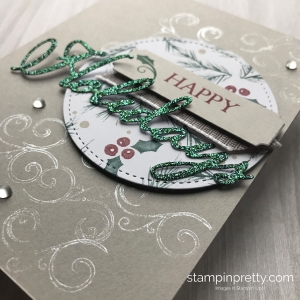 How to Create a Simple Happy Holidays Card using the Merry Christmas to All Bundle from Stampin' Up! #maryfish #stampinpretty