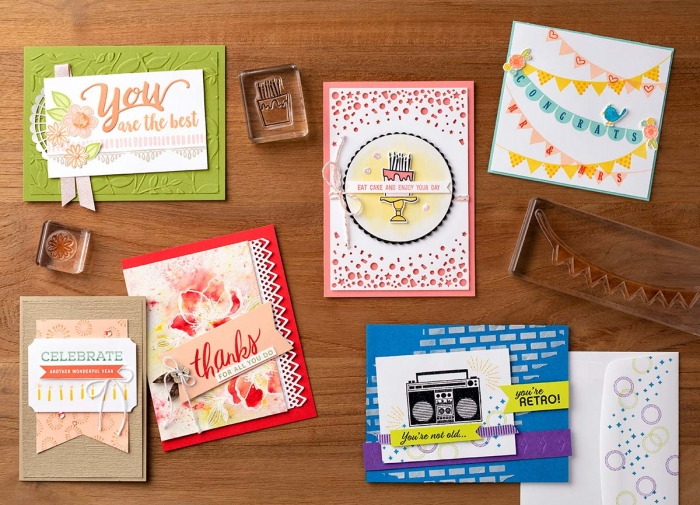 Handmade Creations using the 15% Stamp Sale Sets