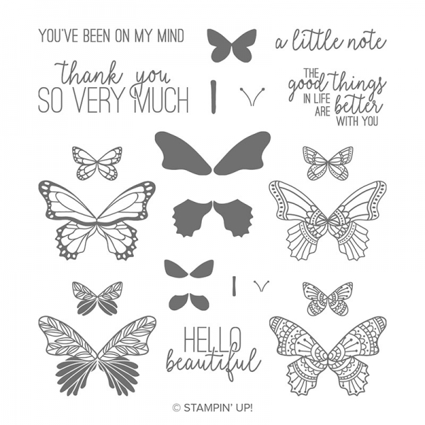 Butterfly Gala Photopolymer Stamp Set by Stampin' Up!