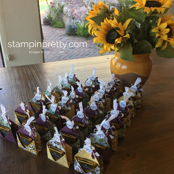 Create a Ghirardelli Treat Holders for Thanksgiving Guest Gifts Mary Fish, Stampin' Pretty