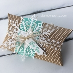 Create a Pillow Box with the Snowflake Showcase Suite Stampin