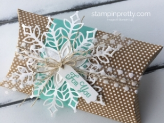 Create a Pillow Box with the Snowflake Showcase Suite Stampin' Up! Mary Fish, Stampin' Pretty!