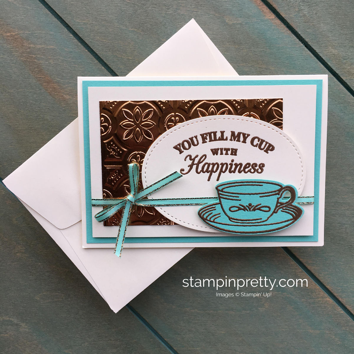 Create a card using the Time for Tea Bundle by Stampin' Up! Mary Fish, Stampin' Pretty
