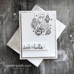 Simple Saturday:  Beautiful Baubles Holiday Card