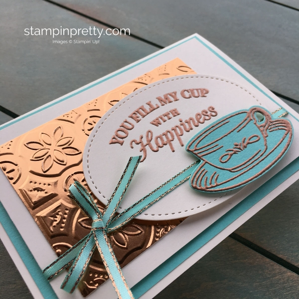 Create this You Fill My Cup With Happiness Note Card Mary Fish, Stampin' Pretty, Stampin' Up!