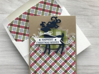 How to create a Christmas Card using the Dashing Deer Bundle by Stampin'Up! Mary Fish, Stampin' Pretty