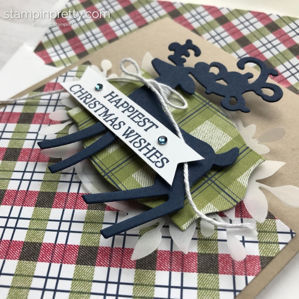 How to create a Christmas Wishes Card using the Dashing Deer Bundle by Stampin' Up! Stampin' Pretty, Mary Fish