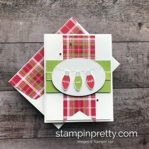 Learn How to create a holiday card using the Making Christmas Bright Bundle by Stampin' UP! Mary Fish