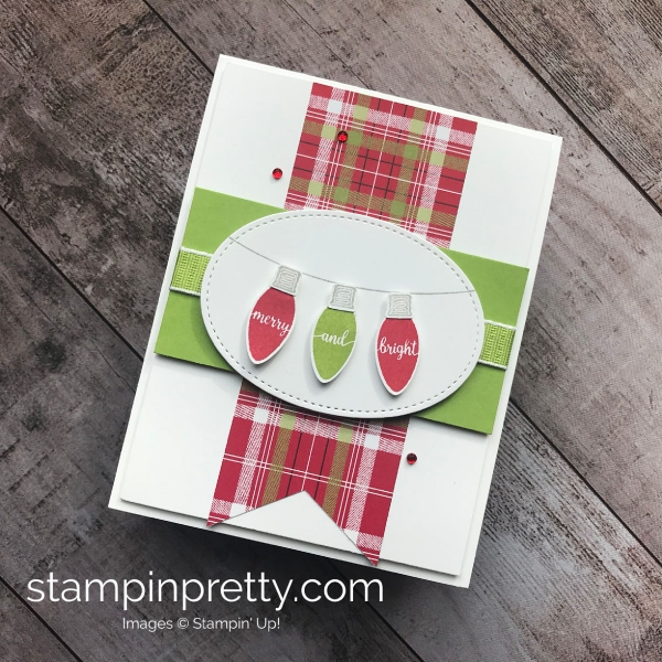 How to create a holiday card using the Making Christmas Bright Bundle by Stampin' UP! Mary Fish3