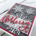 Merry Snowfall Thinlits Dies Holiday Card