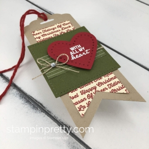 Learn how to create Christmas gift tags with the Nothing Sweeter Bundle By Stampin'Up! Mary Fish, Stampin' Pretty