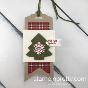 Learn how to create cute holiday gift tags with the Nothing Sweeter Bundle By Stampin'Up! Mary Fish, Stampin' Pretty