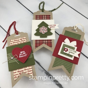 Learn how to create three tags with the Nothing Sweeter Bundle By Stampin'Up! Mary Fish, Stampin' Pretty
