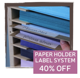 40% Off the Paper Holder Label System
