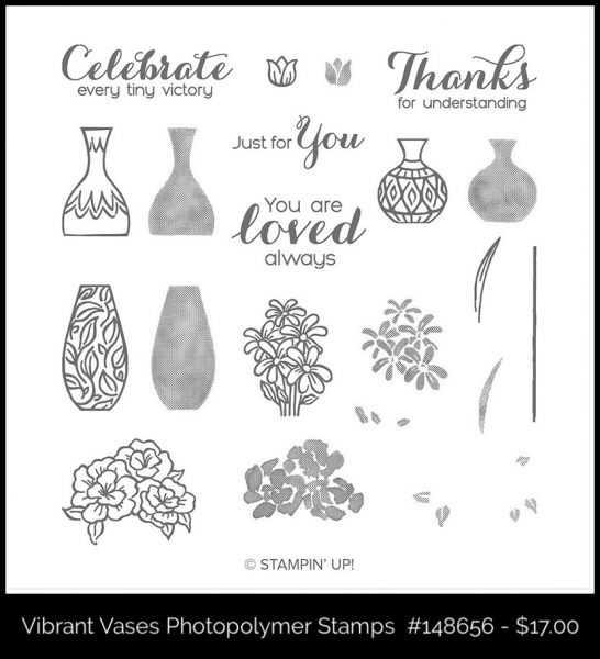 148656 Vibrant Vases Photopolymer Stamps