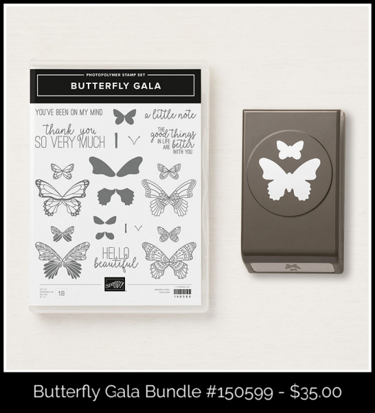 150587 Butterfly Gala Photopolymer Bundle by Stampin' Up! Mary Fish, Stampin' Pretty